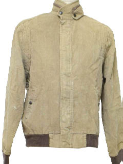 1980's Mens Totally 80s Corduroy Car Coat Jacket