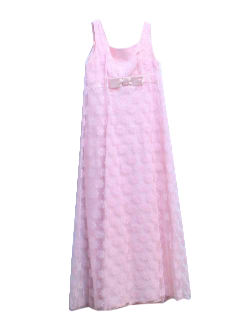 1960's Womens/Girls Babydoll Prom Dress