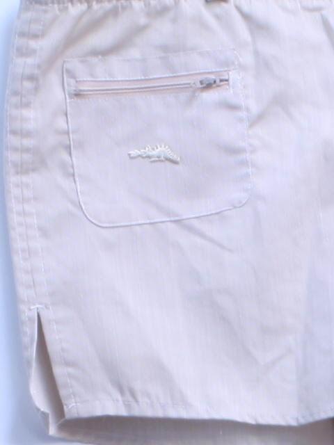 c2b94164e6 Sears Braggin Dragon 1980s Vintage Swimsuit/Swimwear: Late 70s -Sears  Braggin Dragon- Mens tan and white tight pinstripe print background  polyester and ...