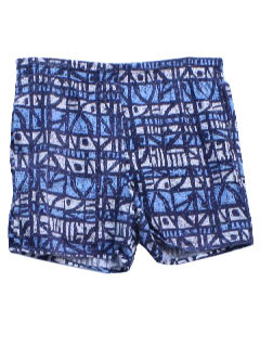 1980's Mens Totally 80s Hawaiian Swim Shorts