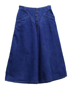 1970's Womens Denim Skort Skirt