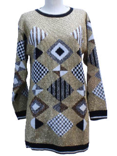 1980's Womens Totally 80s Pullover Cocktail Sweater