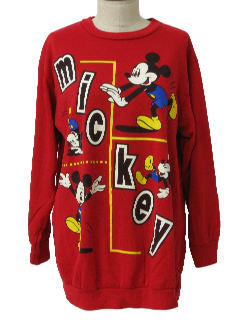 1980's Womens Totally 80s Disney Sweatshirt