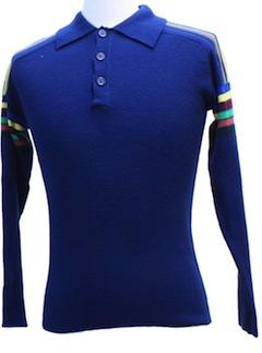 1970's Unisex Mod Knit Shirt