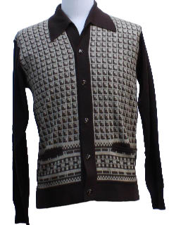 1970's Mens Mod Knit Shirt