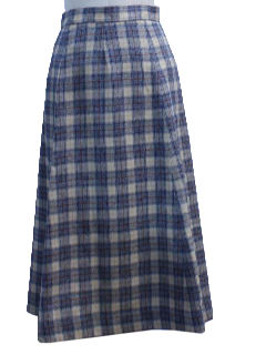 1970's Womens Pendleton Wool Skirt
