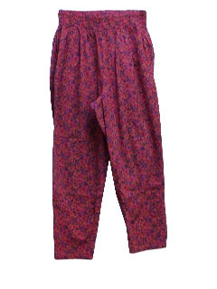 1980's Womens Totally 80s Print Baggy Pants