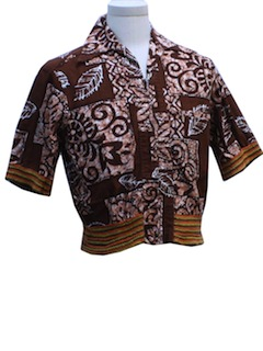 1950's Mens Mod Hawaiian Shirt