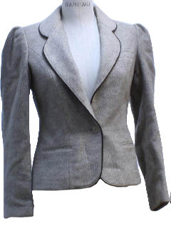 1980's Womens Totally 80s Tweed Blazer Jacket