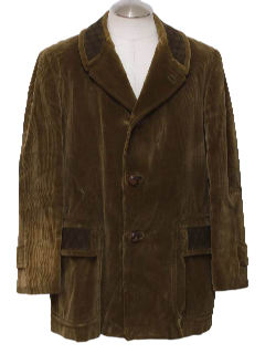 1960's Mens Corduroy Coat Jacket