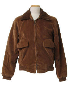 1970's Mens Corduroy Zip Jacket