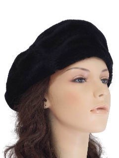 1960's Womens Accessories - Fake Fur Hat