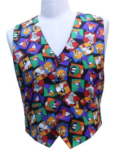 1990's Mens Wicked 90s Cartoon Suit Vest