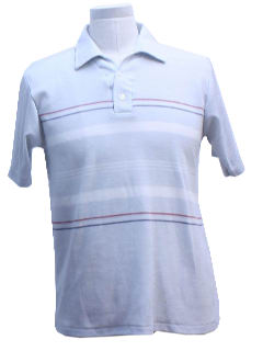 1980's Mens Totally 80s Polo Style Shirt