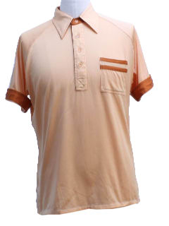 1980's Mens Mod Golf Shirt