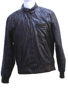 1980's Mens Totally 80s Members Only Leather Jacket