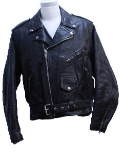 1990's Mens Leather Motorcycle Biker Jacket