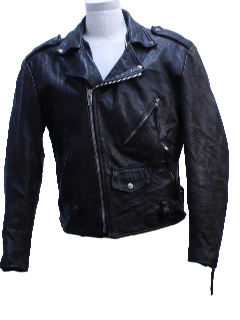1990's Mens Leather Biker Jacket