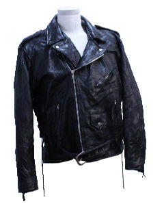 1990's Mens Leather Patchwork Motorcycle Biker Jacket