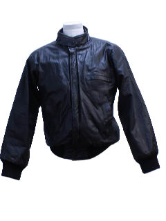 1980's Mens Leather Racer Bomber Style Jacket