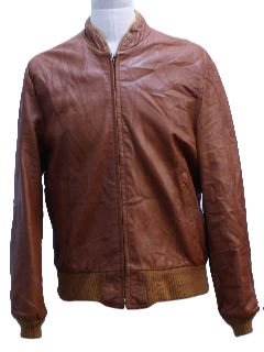 1970's Mens Cafe Racer Style Leather Jacket