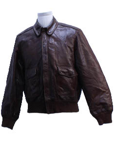 1940's Mens A2 Style Leather Bomber Jacket