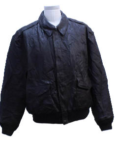 1990's Mens Leather Wicked 90s Bomber Jacket