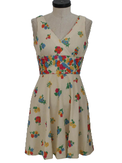 1970's Womens/Girls Knit Sun Dress