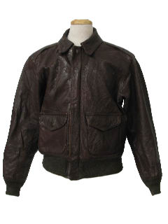 1950's Mens Leather Bomber Jacket