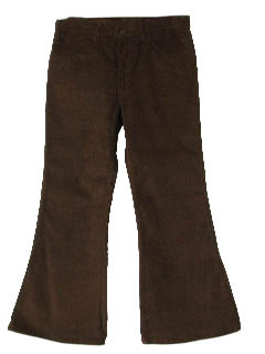 1970's Mens Corduroy Elephant Bells Bellbottom Pants*