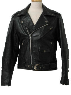 1990's Mens Leather Motorcycle Jacket