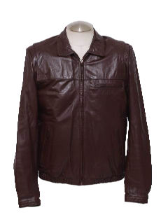 1980's Mens Fight Club Look Leather Jacket