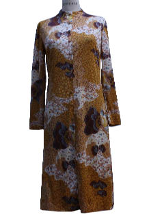 1970's Womens Mod Sheath Dress