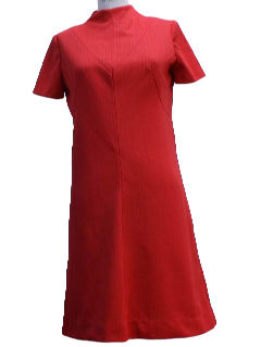 1960's Womens A-Line Knit Dress