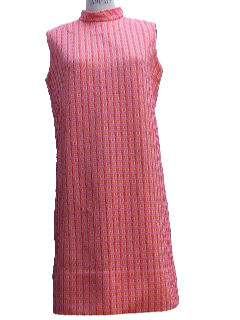1960's Womens Mod A-line Knit Dress