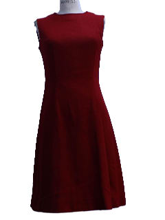 1950's Womens New Look Wool Day Dress