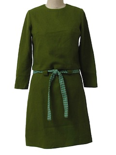 1960's Womens Mod Wool Dress