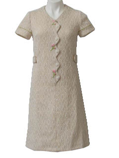 1970's Womens/Girls Mod Knit Dress
