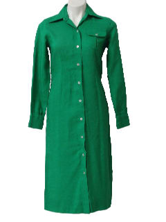 1970's Womens/Girls Rayon House Dress