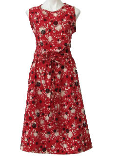1960's Womens Mod Cotton Dress