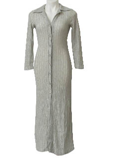 1960's Womens Cocktail Maxi Dress