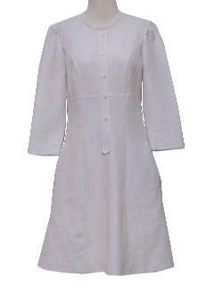 1970's Womens Uniform Nurses Dress
