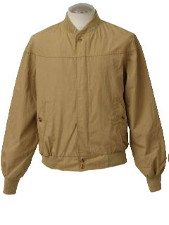 1970's Mens Zip Golf or Gas Station Style Zip Jacket