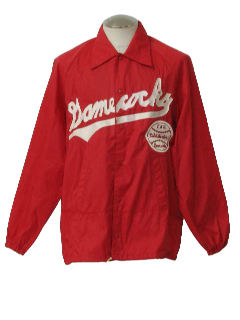 1970's Mens Baseball Rain Jacket