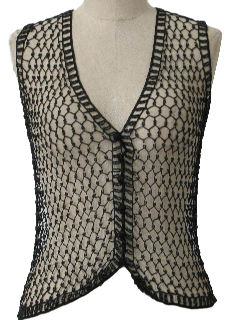 1980's Womens Totally 80s Mesh Cocktail Vest