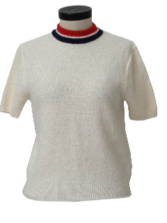 1960's Womens Mod Knit Shirt