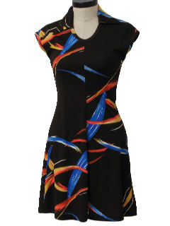 1980's Womens Totally 80s Disco Dress