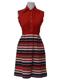 1970's Womens/Girls Knit Dress
