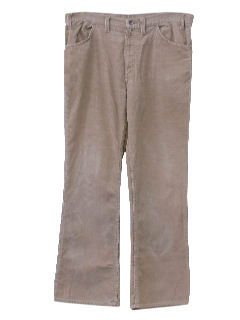 1970's Mens Flared Corduroy Pants