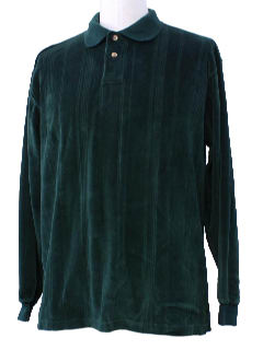 1980's Mens Totally 80s Velour Knit Shirt